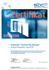 > Download Zertifikat Saia-Burgess Controls
